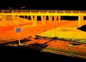 Laser scanning on busy roads