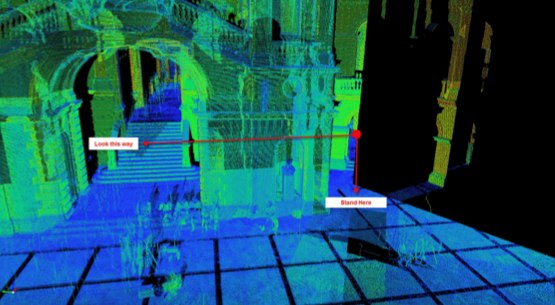 Improving visual clarity of point clouds using occlusion
