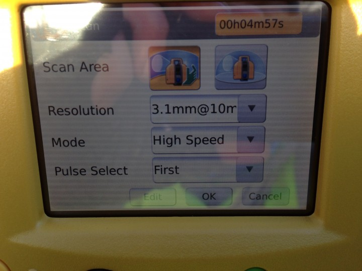 Scanner settings window
